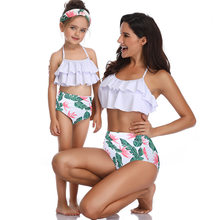 mommy and me swimsuits family look mother daughter swimwear family matching outfits mom girl tassel bikini dress clothes(Hong Kong,China)