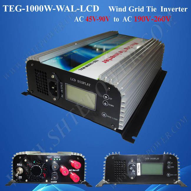 3 Phase 45-90V AC to AC 110v 120v 220v 230v 240v 1kw On Grid Tie Inverter for Wind Generator micro inverters on grid tie with mppt function 600w home solar system dc22 50v input to ac output for countries standard use