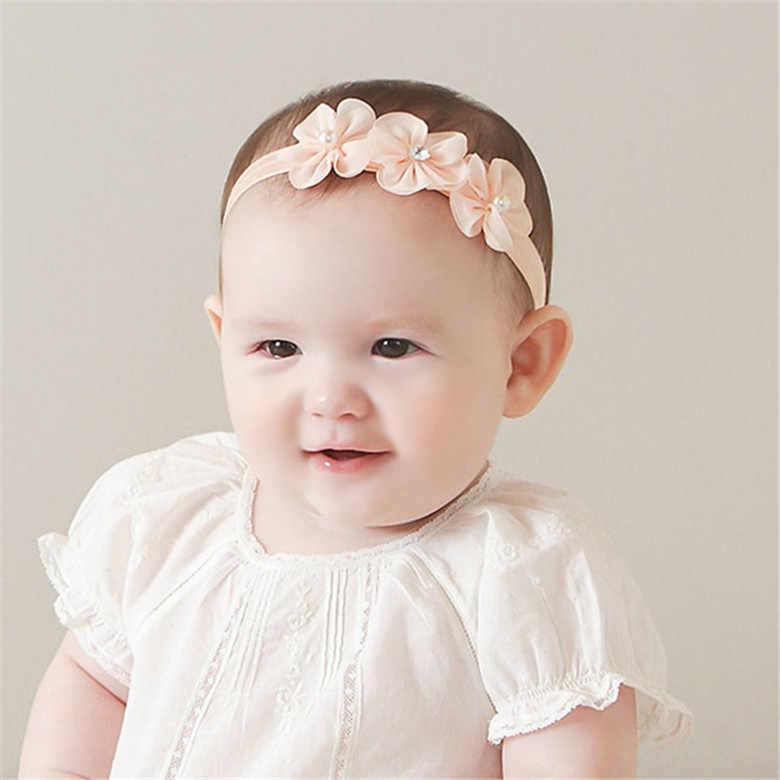 Diadema para bebé Niña Accesorios para el cabello infantil lazo sombrero recién nacido tiara diadema regalo para niños pequeños venda cinta flor arcos de perlas