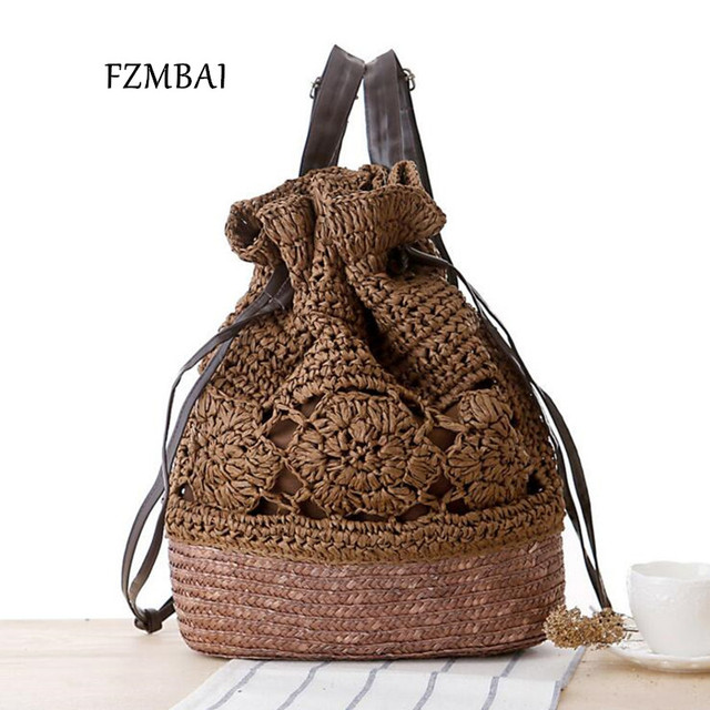 Aliexpress.com : Buy 2017 Leisure Drew string Crochet Backpack ...