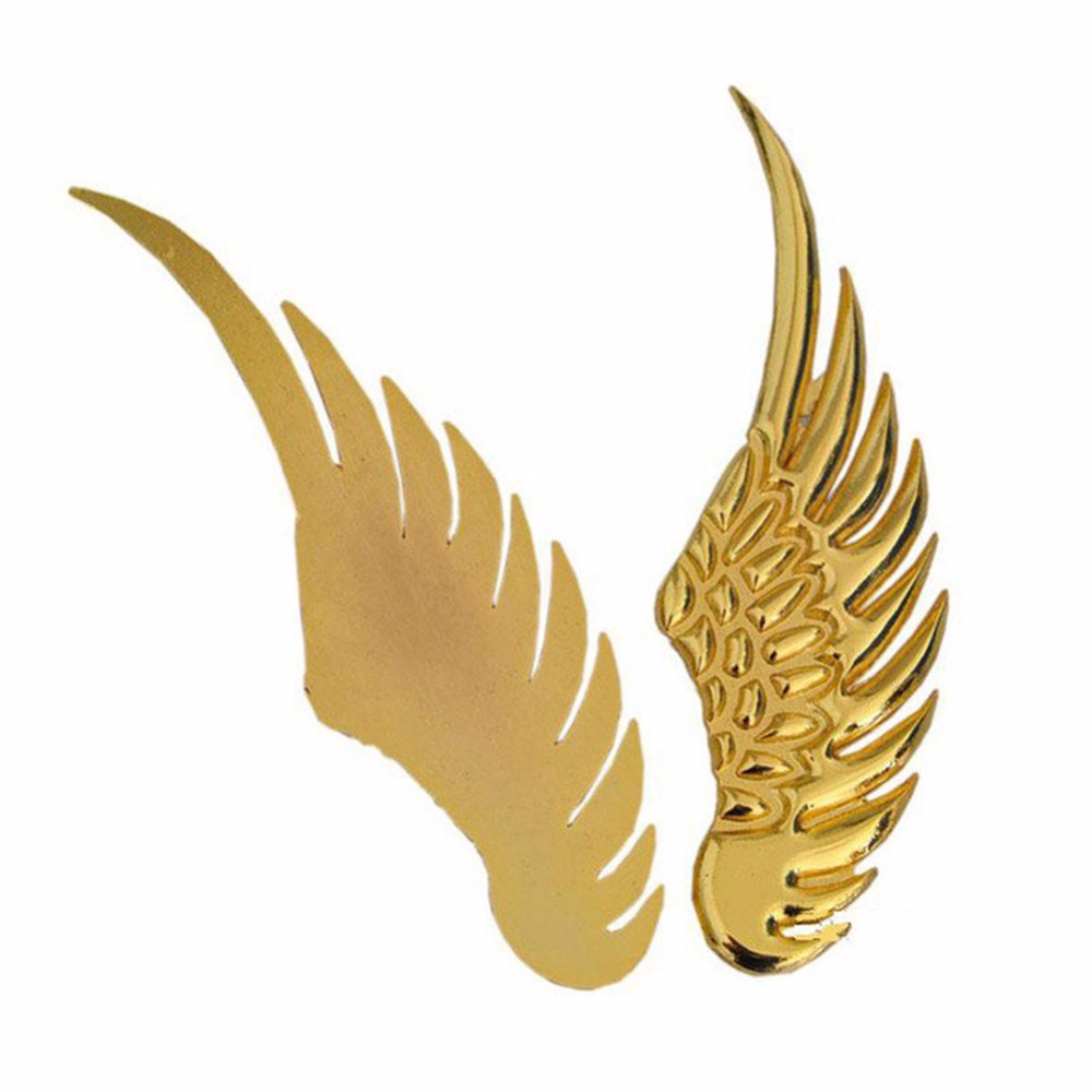 New Creative 3D Car Stickers Metal Sticker Angel Wings Car Styling ...