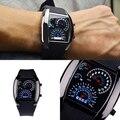 Homens da moda de Aço Inoxidável Luxury Sport Analógico Quartz Relógio de Pulso LED
