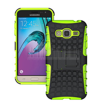 Heavy Duty Armor Shockproof Kickstand Hard Case Cover For Samsung Galaxy Express Prime With Films+Stylus