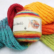 200g/ball Worsted 3 ply Soft Colorful Section-dyeing Wool Yarn for Hand Knitting Baby Sweater Scarf Cotton Thread JX001