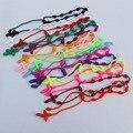 15 Colores Hechos A Mano de colores de la Suerte Pulsera DECENARIO Anudada Rosario Rosario Religioso Cruz PULSERAS Para Las Mujeres Niñas