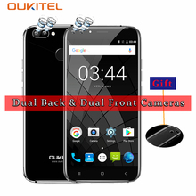 OUKITEL U22 3G Smartphone MTK6580A Quad Core 1.3GHz Android 7.0 16G ROM 2G RAM 5.5 Inch Fringerprint Four Cameras 8.0MP 2700mAh