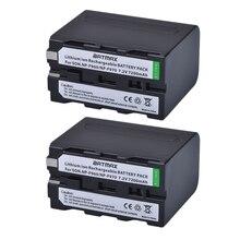 2 pcs NP F970 충전식 배터리 7200 mAh NP F970 NPF970 카메라 배터리 소니 MC1500C 190 P 198 P F950 MC1000C TR516 TR555