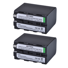2pcs NP F970 rechargeable Battery 7200mAh NP F970 NPF970 Camera batteries for SONY MC1500C 190P 198P