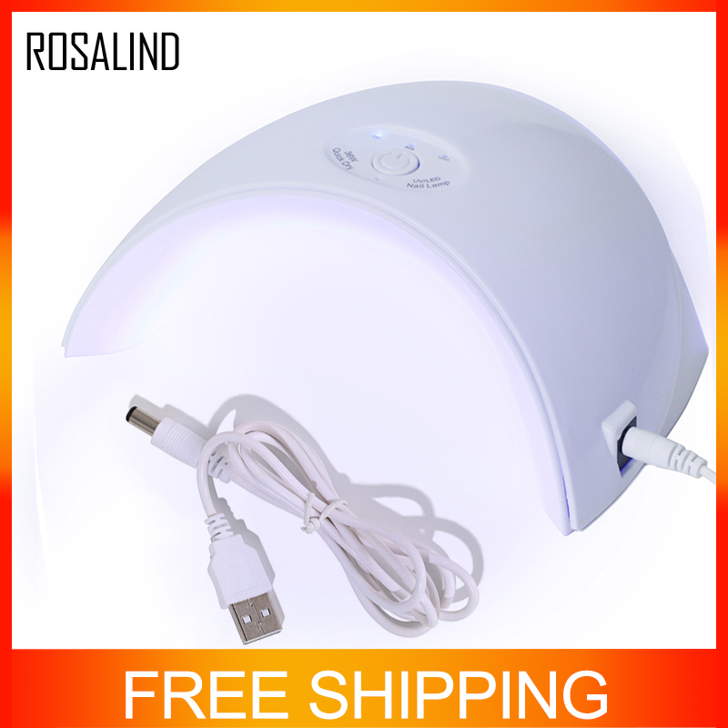 ROSALIND 36W  UV LED Lamp For Nails Gel Polish Ultraviolet Lamp For Manicure Nail Dryer Curing 30s/60s/120s Timer USB ConnectorROSALIND 36W  UV LED Lamp For Nails Gel Polish Ultraviolet Lamp For Manicure Nail Dryer Curing 30s/60s/120s Timer USB Connector