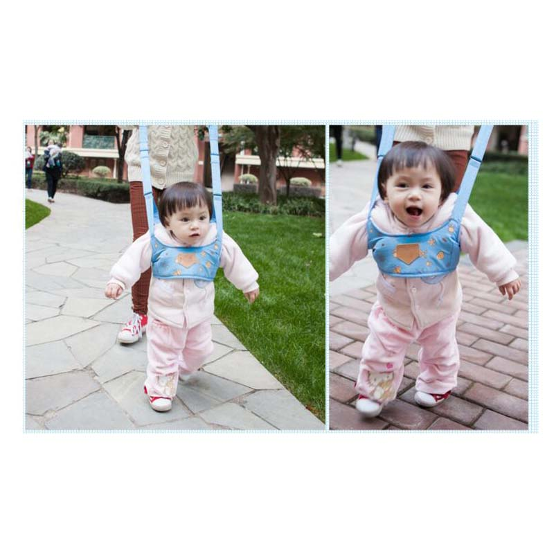 Printed Breathable Baby Vest-Style Toddler With Basket Baby Sling Assistant Toddler Belt Children Learning Walking Baby Belt(China)