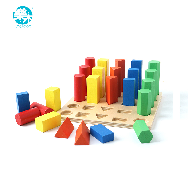 Baby toy wooden building block chopping montessori education Geometric Assembling Blocks multicolor Assembling kid learning toy