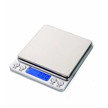 High Precision Electronic Kitchen Scale LED Digital Balance Measuring Stainless Steel Mini Portable Household Tools yibo lcd digital scale multi function food kitchen scale electronic balance cooking measuring tools high precision scale