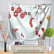 New Wall Hanging Tapestry Xmas Elk Carpet Year Party Cloth Tapestries Room Decor Christmas Santa Ride Table