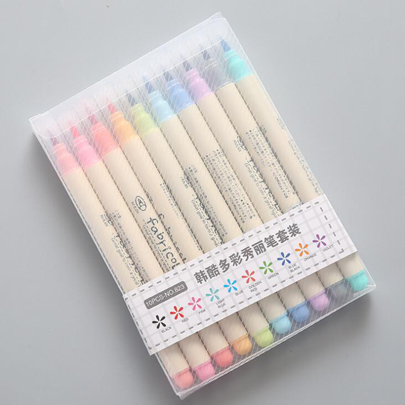 US $8.91 40% OFF|10 Color Kids Premium Painting Soft Brush Pen Set  Watercolor Markers Pen Effect Best For Coloring Books Manga Comic  Calligraphy-in ...