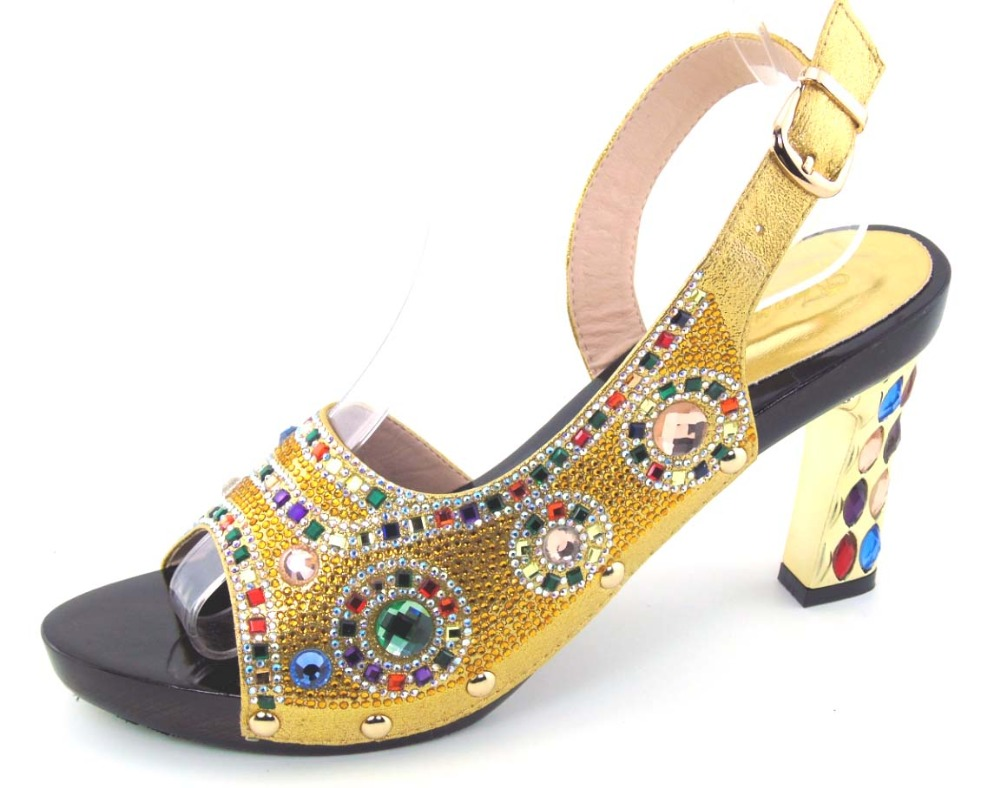 Blue And Gold Wedding Shoes