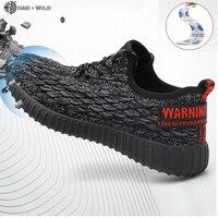 Дышащая защитная обувь Для мужчин легкие летние прочные пирсинг рабочие сандалии одинарный, сетчатый кроссовки Для мужчин