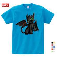 все цены на Pocket Toothless T-shirt  Cute Tops Cartoon Tees Summer Clothes Cotton T-shirt  Baby Boy Clothes The Night  Fury Kids Funny 3T9T