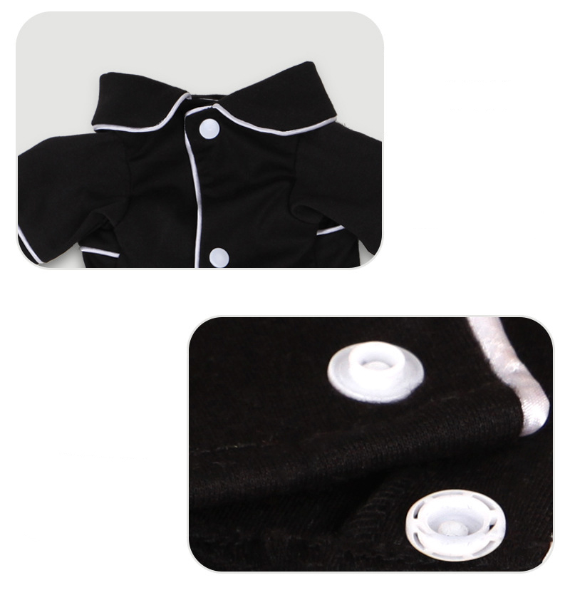 Dog Shirts Spring Summer Pet Pajama Breathable Soft Home T Shirt For Small Dogs Cats Chihuahua Poodle Vests With Snap Fastener (7)