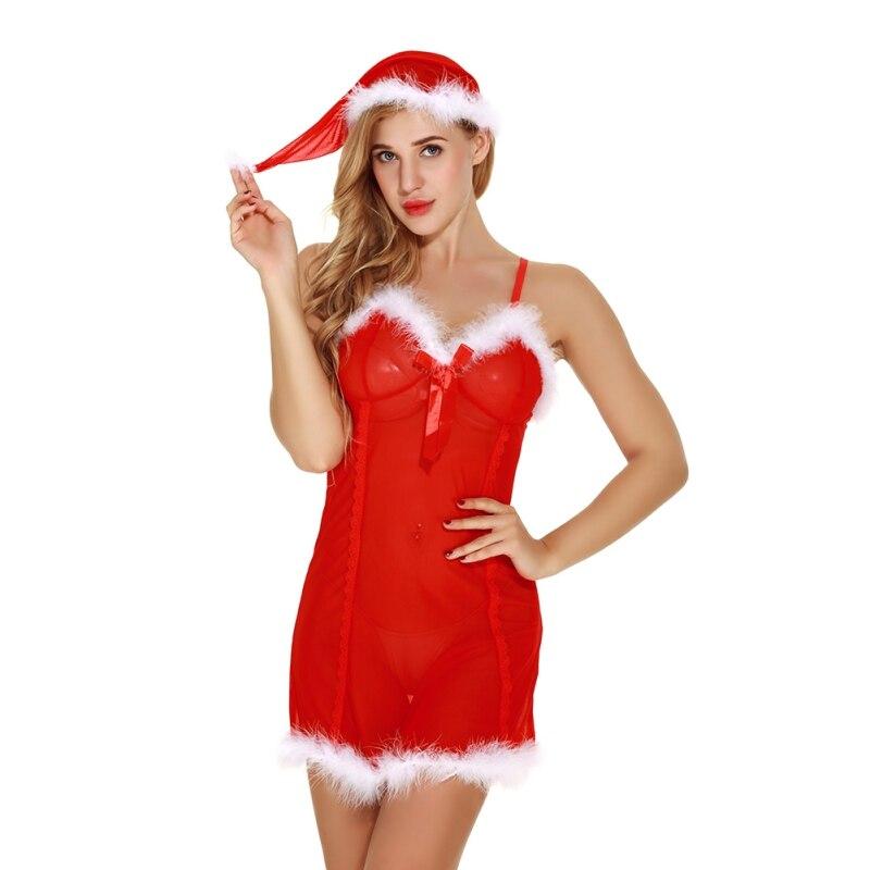 ee64b6d99661 Cheap Sling Lencería erótica mujer camisón translúcido Sexy camisón mujer  fiesta de Navidad ropa de dormir