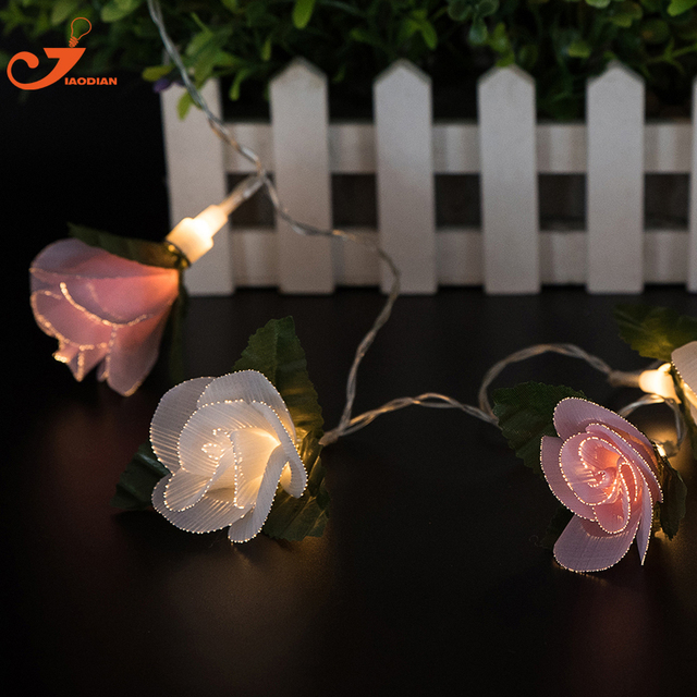 Pink rose string lights white flower 10pcs led lighting fairy fiber pink rose string lights white flower 10pcs led lighting fairy fiber optical spring decoration battery powered mightylinksfo
