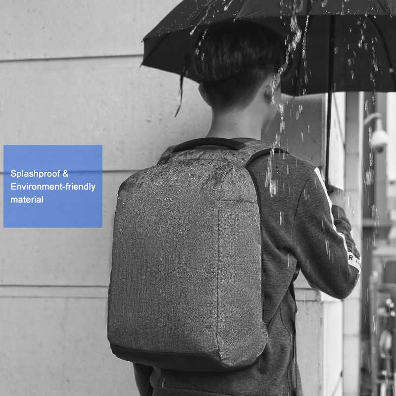Tigernu Анти Вор Мужской Рюкзак Защита от брызг Антифриз 15,6-дюймовый ноутбук Рюкзаки с USB Зарядка Путешествия Мужчины рюкзак