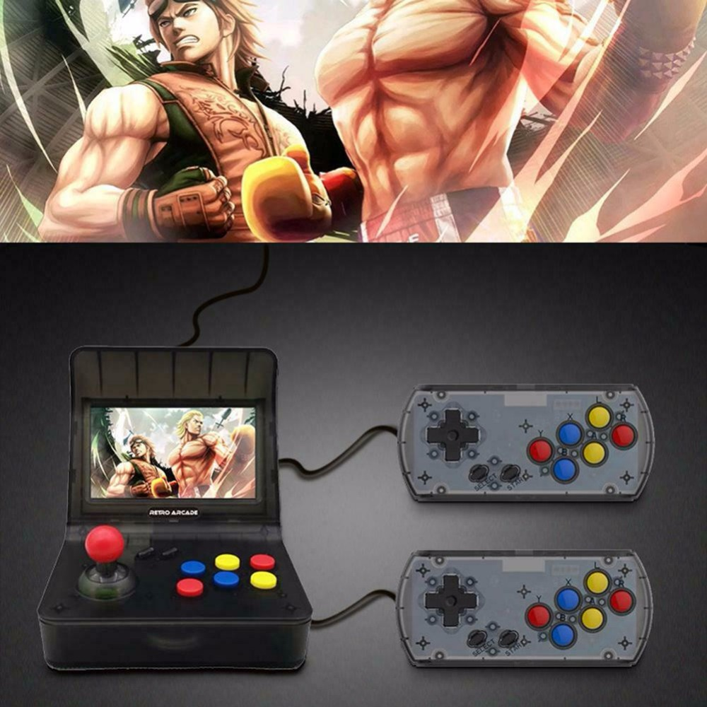 """Coolbaby RS-07 4.3"""" LCD Video Game Player 16GB Handheld Retro Arcade Double Game Console TF Card for Built-3000 Different games 1"""