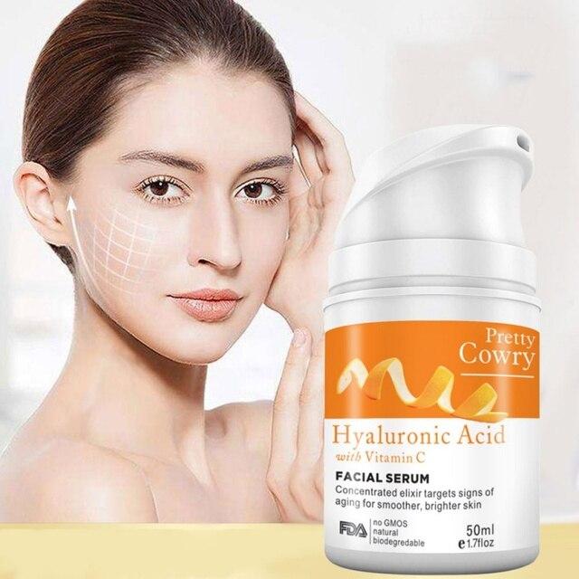 Витамин С оранжевый 100% чистый антивозрастной осенне-зимний крем растительный экстракт жидкость с гиалуроновой кислотой отбеливание пятна сыворотка крем