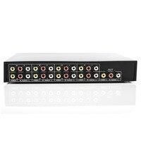 8 портов 1 выход Композитный 3 RCA Видео Аудио AV Переключатель коробка селектор 8 в 1 выход 8x1 8in 1out 8x1 для HDTV lcd DVD