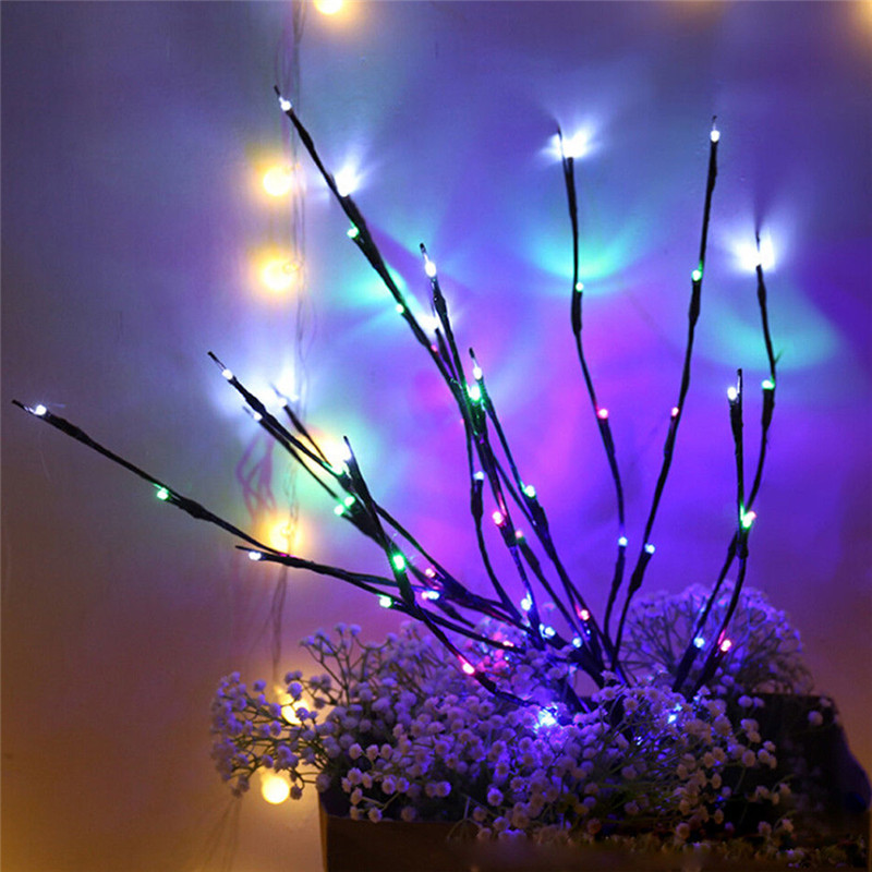 Led Willow Branch Lamp Floral Lights Holiday Home Birthday Party Decoration Battery Floor Lamp Garden Decoration Light On Sale
