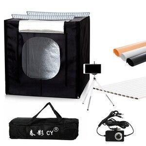 CY 60*60 см светодиодный светильник для фотостудии, Настольный светильник для фотосъемки, софтбокс + переносная сумка + диммер, адаптер перемен...