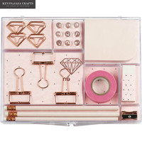 New Stationery Gift Set Pink Stationery Tools Notebook Gift Set Bts Kids Gift Set Luxury Office Accessories Bts Stationery Gift
