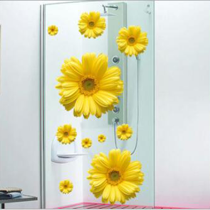 1pcs daisy flower wall sticker vinyl decals wardrobe car window living rooms bathroom trunk poster art