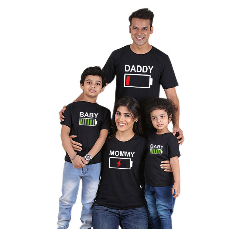 Family Matching Clothes Father Mother Son Daughter Outfits Cothing Tshirt Mom Mum Mommy Daddy and Me Baby Boy Girl Dresses/