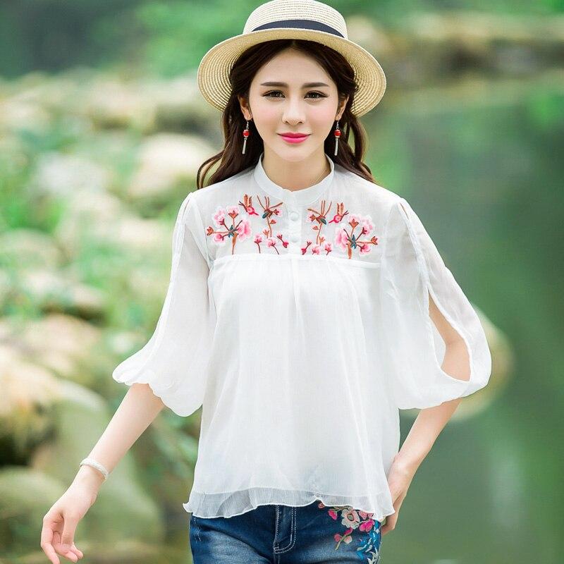 Compra españa estilo camisas de las mujeres online al por ...