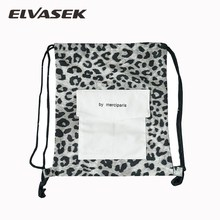 ELVASEK Women Backpacks New Fashion Style Student Bag Vintage Leopard  Shoulder Bags Personality Wild Drawstring backpack