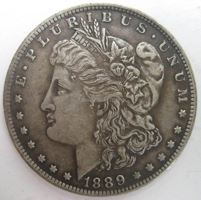 1889-CC Morgan Dolar Koin Copy