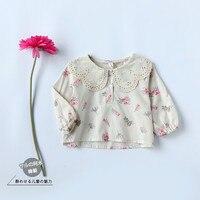 New Arrival Bé Gái Mùa Xuân Hoa Áo Cánh trẻ sơ sinh Dài Tay Sơ Mi in Hoa toddler Kids Dễ Thương Cotton công chúa Áo Cánh