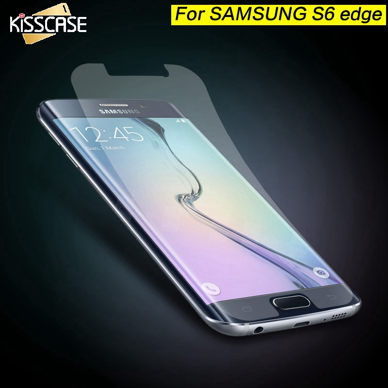 KISSCASE For Samasung Galaxy S6 S5 S7 Edge Front Protective Case Clear Screen Protector For iPhone 6 6S Plus 5S Transparent Film ...