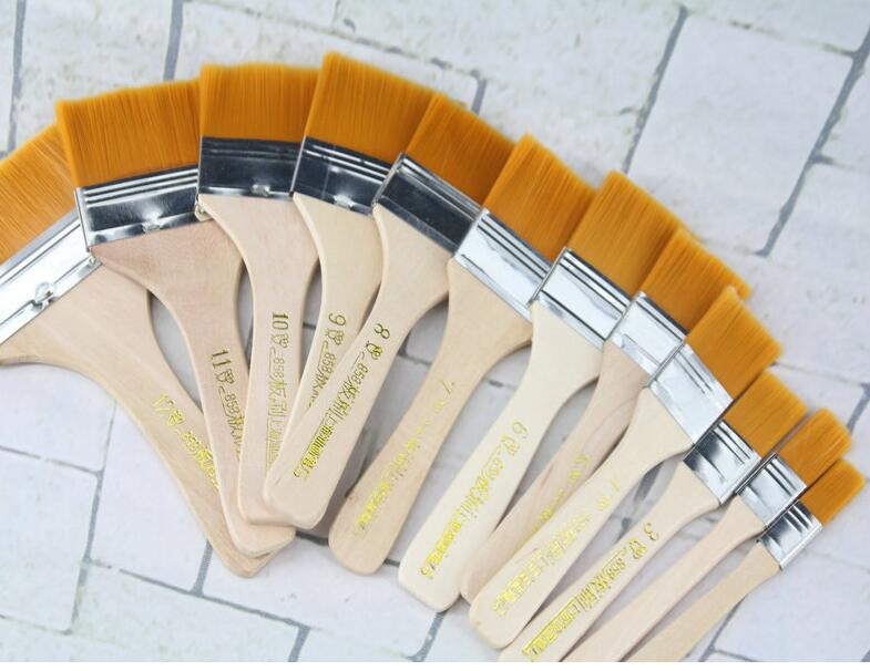 12Pcs Wooden Oil Painting Brush Artist Acrylic Watercolor