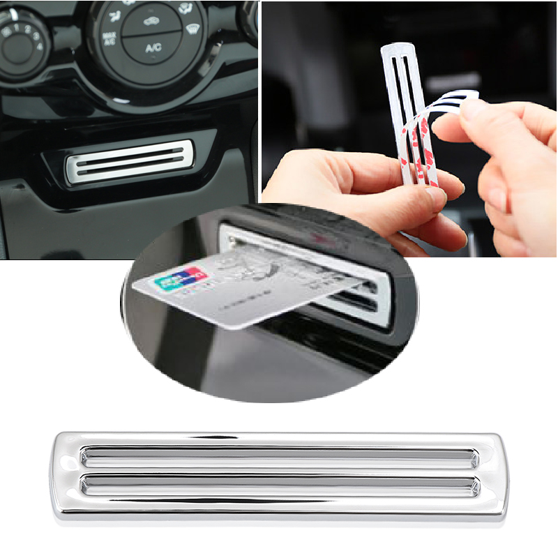 Car Accessories ABS Chrome Trim Ring Card Nest Decoration Sequins Sticker For Ford Fiesta 2012-2016 For Ecosport 2009-2016
