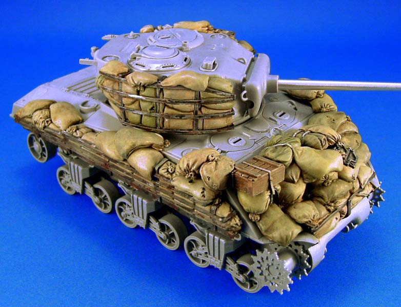 US $25 74 |1/35 Sherman M4A3 sandbag Armor set not include tank toy Resin  Model Miniature Kit unassembly Unpainted-in Model Building Kits from Toys &