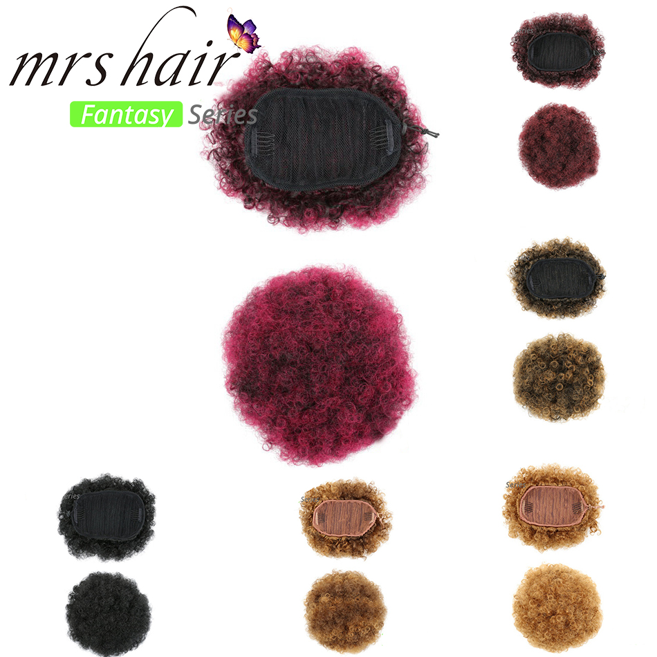 Chignon Hair Pieces For Black Women Curly Afro Ponytail -8838