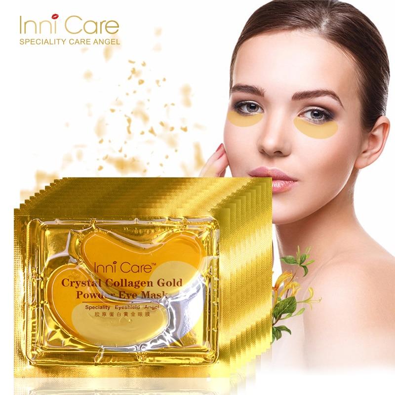 [20pcs] Natural Crystal Collagen Gold Powder Eye Mask Anti-Aging Eliminates Dark Circles Fine Lines Face Care Skin Care N035