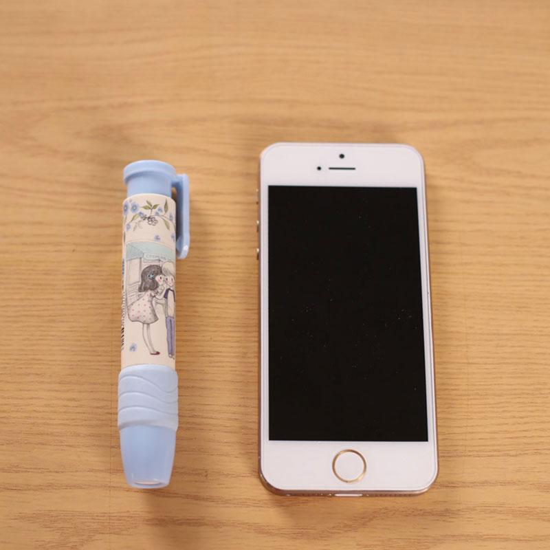 Купить с кэшбэком 1pcs Cute Pen Shape Eraser Rubber  Stationery Kid Gift Toy kawaii School Office Supplies Child Prizes 3 Colors Free shipping