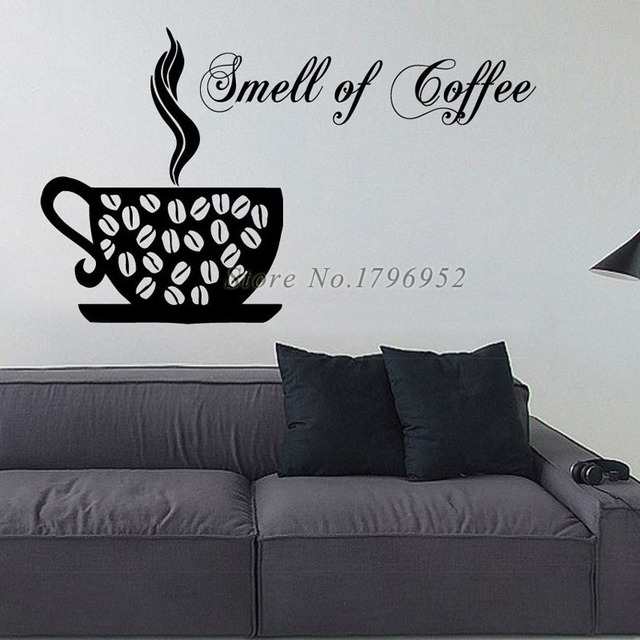 Aliexpresscom Buy Smell Of Coffee Wall Decal Sticker Creative - Vinyl stickers designaliexpresscombuy eyes new design vinyl wall stickers eye wall