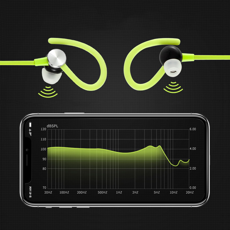 Sports Bluetooth Earphone V4.1 Wireless Headphone Anti-sweat CVC6.0 Noise cancelling Wireless Bluetooth Headset For IOS Android factory price binmer 1pc sports wireless bluetooth headset earphone headphone for samsung jy27 drop shipping