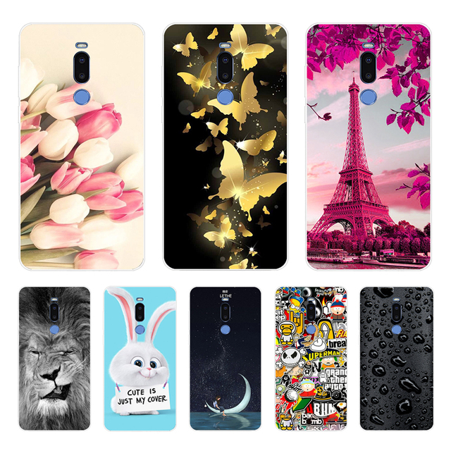 meizu note 8 Case,Silicon Colorful flower Painting Soft TPU Back Cover for meizu m8 note Phone protect cases shell