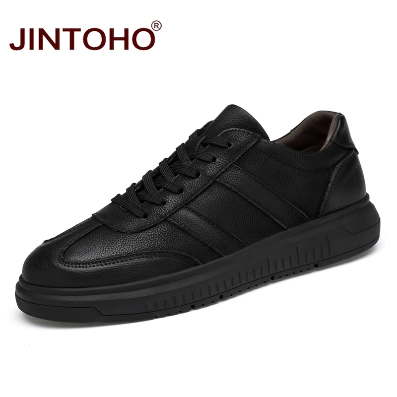 JINTOHO ビッグサイズ本革紳士カジュアルシューズファッションブランド男性カジュアル革の靴デザイナーの靴 2018 男性フラッツ  グループ上の 靴 からの メンズカジュアルシューズ の中 1