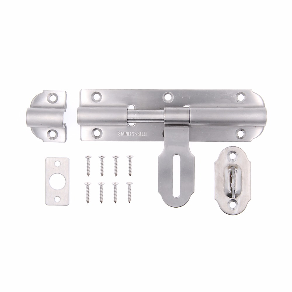 Stainless Steel Flip Latch Gate Latches Bar Latch Safety Door Lock,Brushed Finish 1pcs