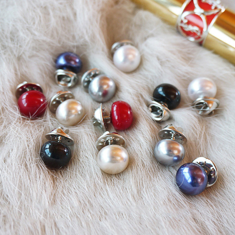 100PCS/Lot Mix 7 Colors Almighty Collar Anti Exposure Brooch Pins Badge Shawl Cardigan Button Nip Broche Pins Spilla Wholesale мт 1019 магнит санкт петербург
